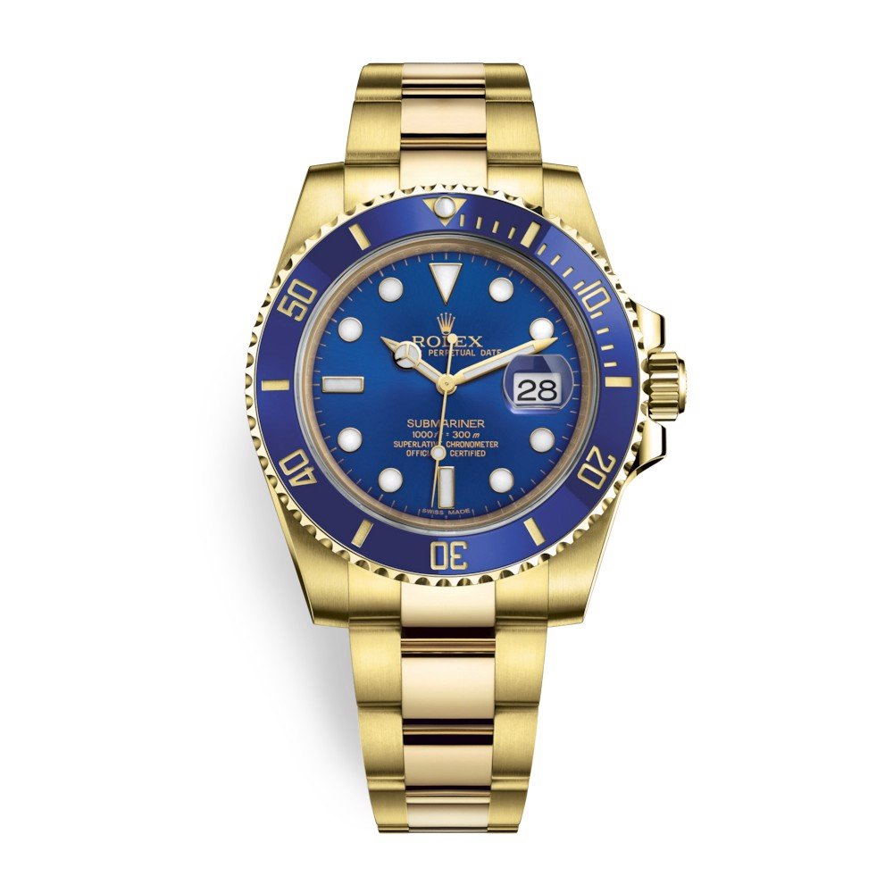 Rolex Submariner Date 40mm Yellow Gold Blue 116618LB-0003