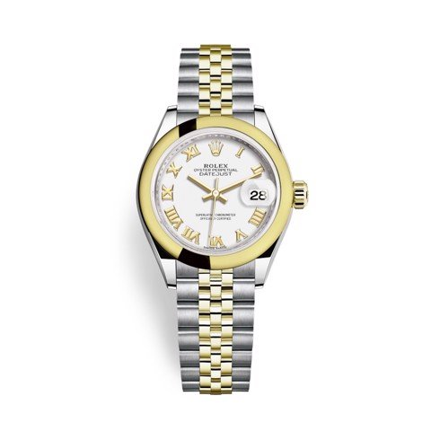 Rolex Lady-Datejust 28mm Stainless Steel and Yellow Gold 279163-0023