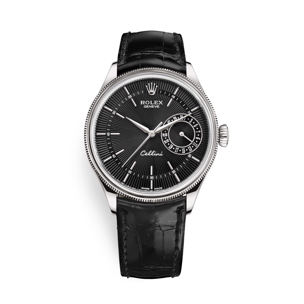 Rolex Cellini Date 39mm White Gold Black Black 50519-0007