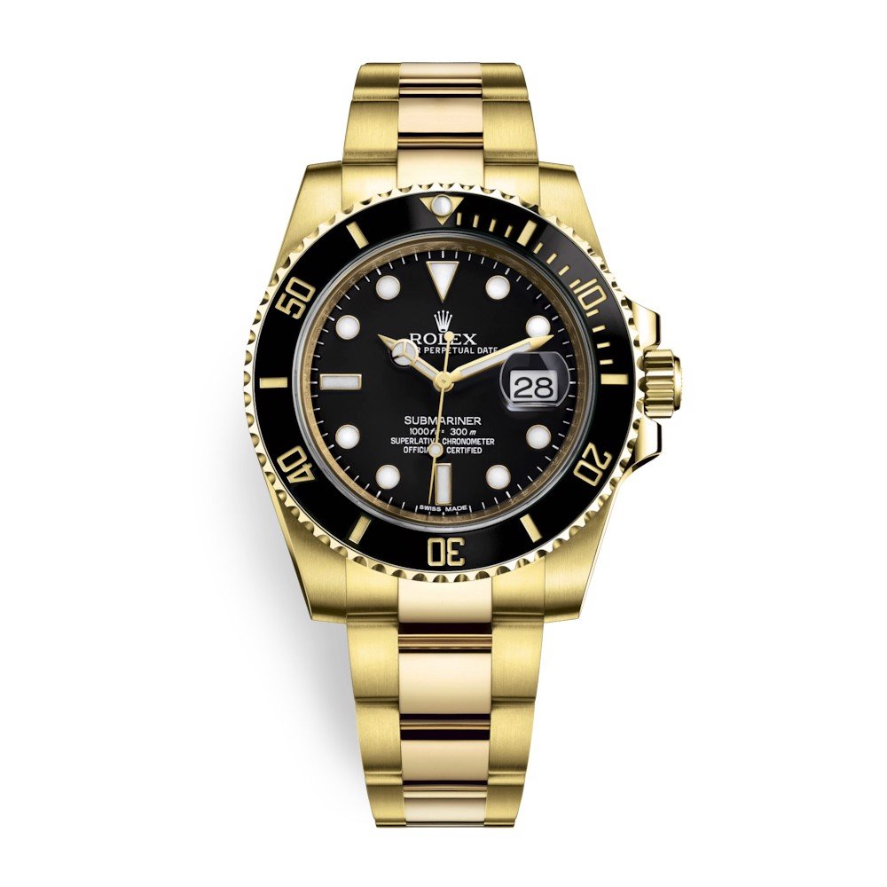 Rolex Submariner Date 40mm Yellow Gold Black 116618LN-0001