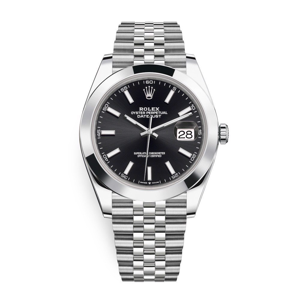 Rolex Datejust 41mm Stainless Steel Black 126300-0012