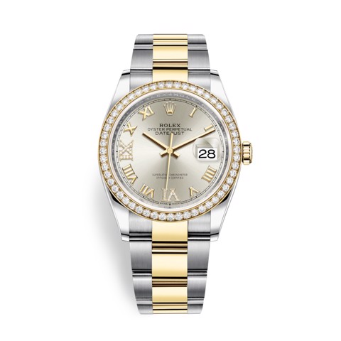 Rolex Datejust 36mm Stainless Steel and Yellow Gold Diamonds 126283RBR-0018
