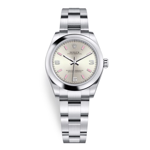 Rolex Oyster Perpetual 31mm Silver 177200-0009