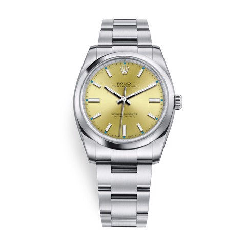 Rolex Oyster Perpetual 34mm Champagne 114200-0022