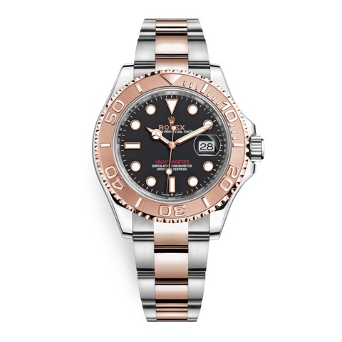 Rolex Yacht-Master 40mm Stainless Steel & Rose Gold Black 126621-0002