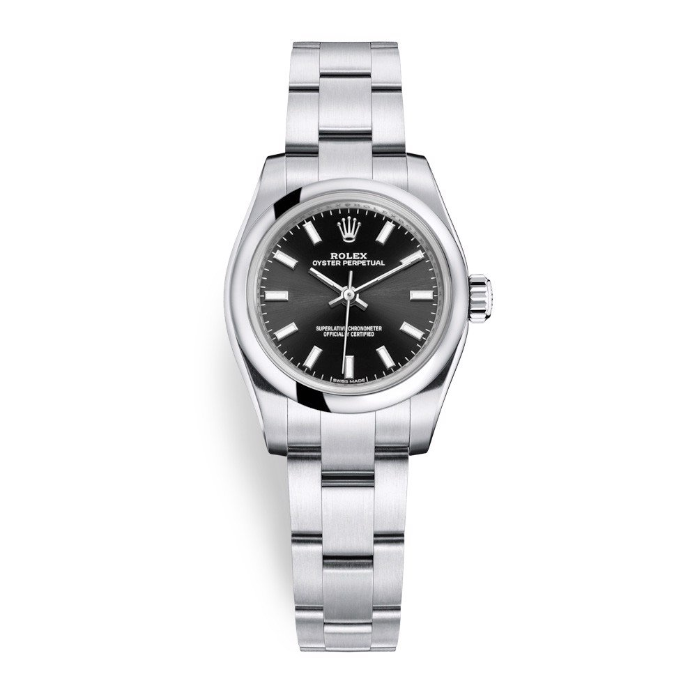 Rolex Oyster Perpetual 26mm Black 176200-0017