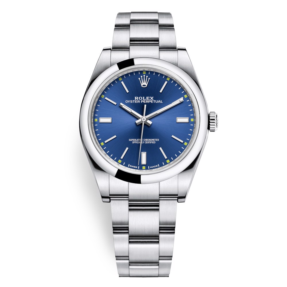 Rolex Oyster Perpetual 39mm Blue Oyster 114300-0003