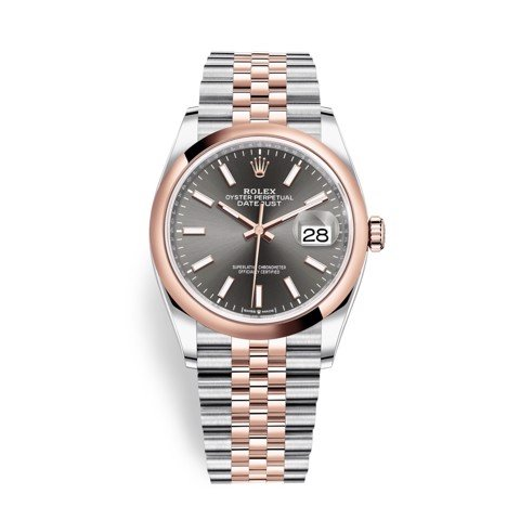 Rolex Datejust 36mm Stainless Steel and Rose Gold 126201-0013