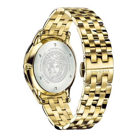 Đồng hồ nam Versace Univers GMT Men's Yellow Gold Watch 43mm