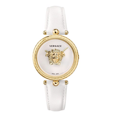 Đồng hồ nữ Versace Palazzo Empire White Leather Strap 34mm