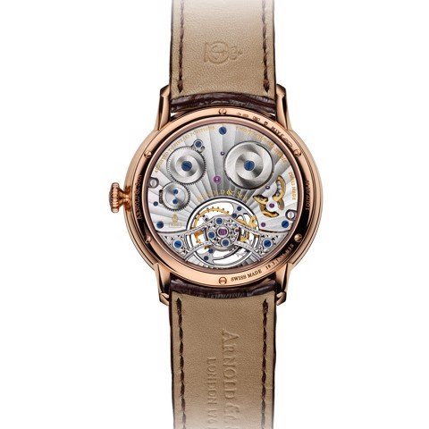Arnold & Son Instrument UTTE Tourbillon Rose Gold Silver Dial