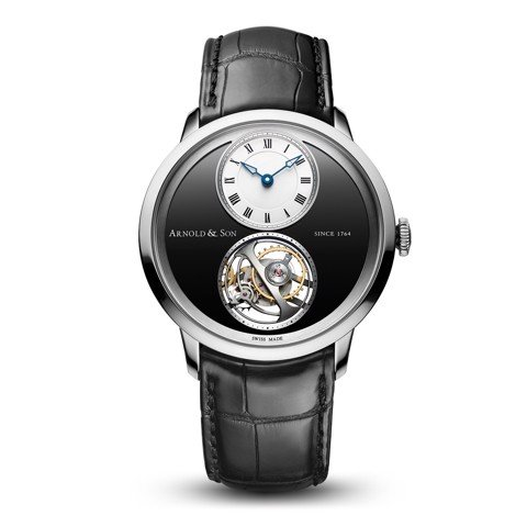 Arnold & Son Instrument UTTE Tourbillon Palladium Black Dial