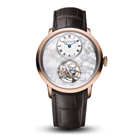 Arnold & Son Instrument UTTE Tourbillon Rose Gold MOP Dial