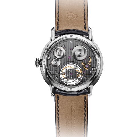 Arnold & Son Instrument UTTE Tourbillon Palladium Grey Dial
