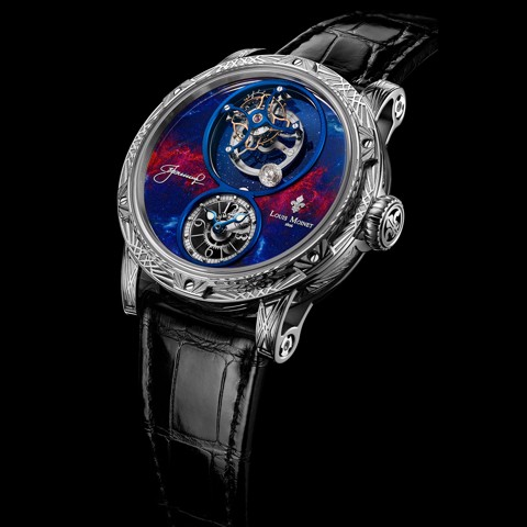 Đồng hồ nam Louis Moinet Spacewalker White gold engraved 47.4mm