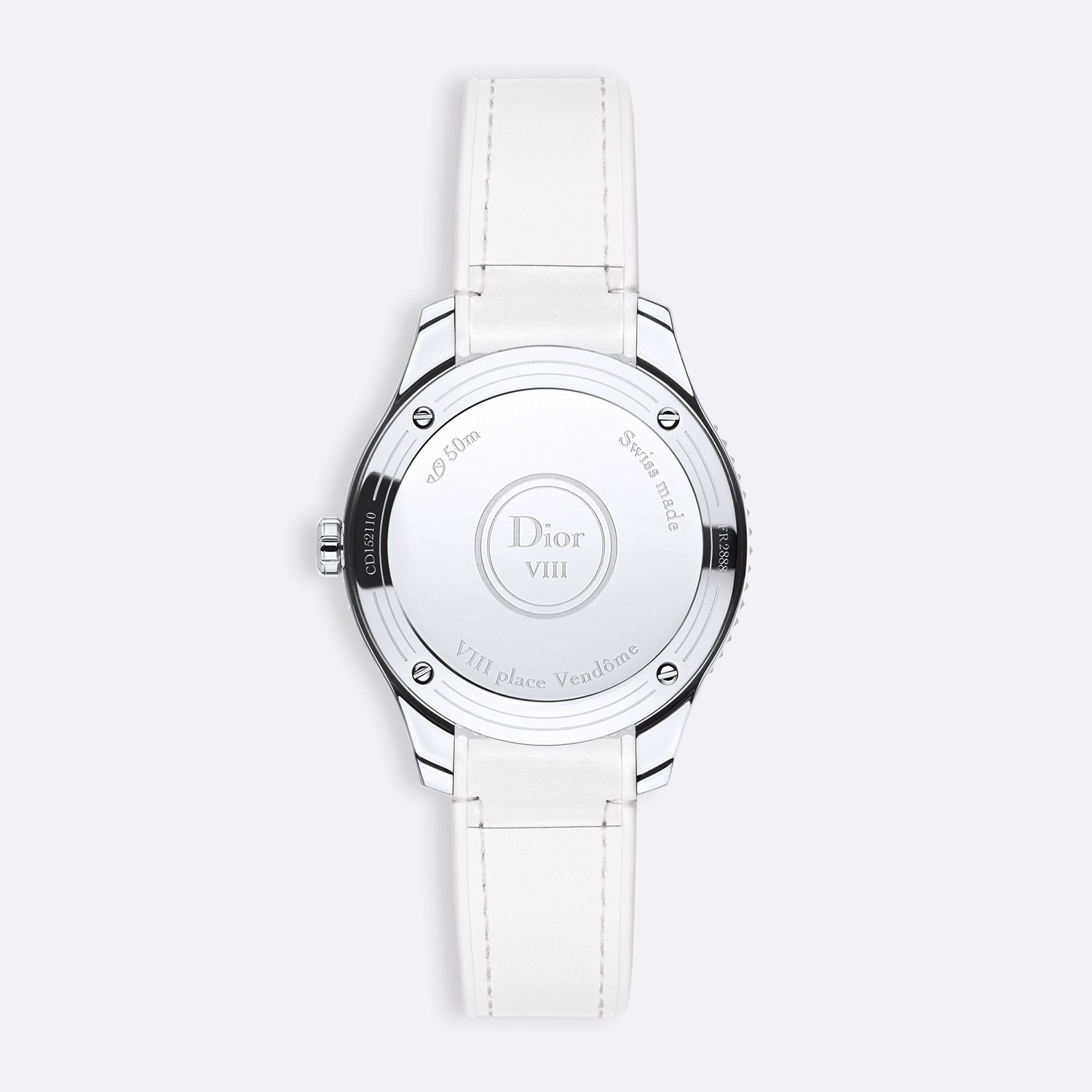 Đồng hồ nữ Dior VIII Montaigne White Leather Strap Ø 32mm