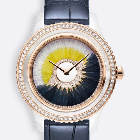 Đồng hồ nữ Dior Grand Bal Cancan White and Yellow Dial Ø 38mm