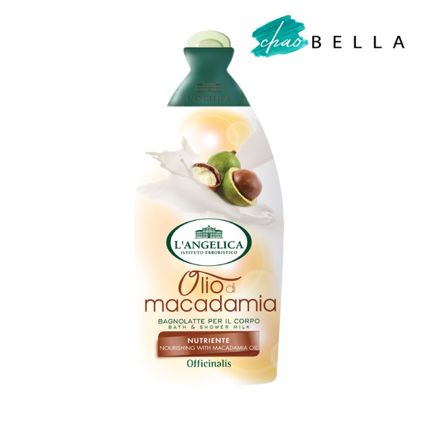 Sữa Tắm Tinh Chất Dầu Maca L'angelica Bath & Shower Gel Nourishing With Macadamia Oil 500ml - @chaobella
