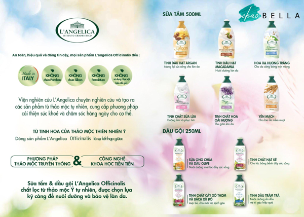Sữa Tắm Tinh Chất Sữa Lừa L'angelica Bath & Shower Gel Regenerating With Donkey Milk 500ml - @chaobella