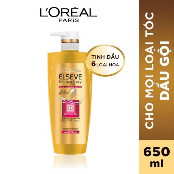 Dầu gội chiết xuất tinh dầu hoa tự nhiên L'Oréal Paris Elseve Extraordinary Oil 650ml