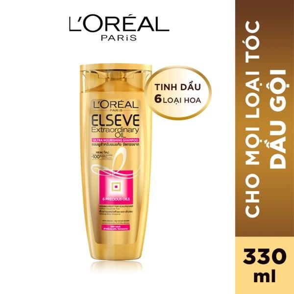 Dầu gội chiết xuất tinh dầu hoa tự nhiên L'Oréal Paris Elseve Extraordinary Oil 330ml