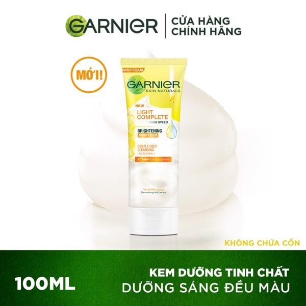 Sữa rửa mặt tạo bọt sáng da Garnier Light Complete Vitamin C Whip Foam 100ml