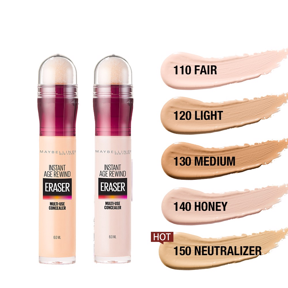 Bút Cushion Che Khuyết Điểm Đa Năng Instant Age Rewind Eraser Multi-use Concealer Maybelline New York 6ml