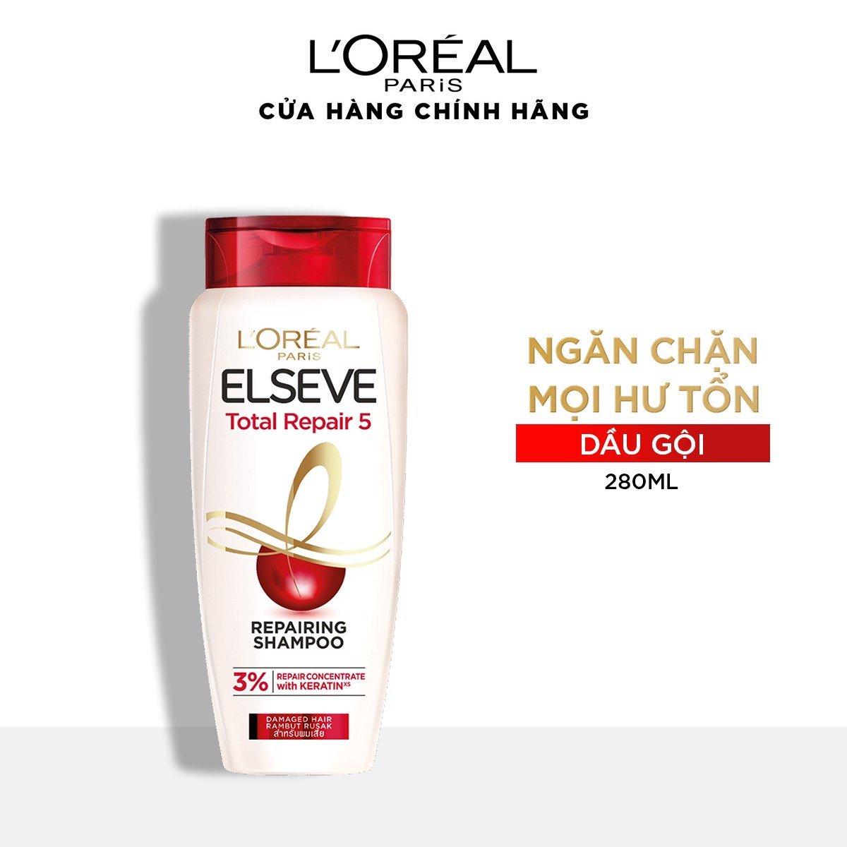 Dầu gội phục hồi tóc L'oreal Paris Elseve Total Repair 5 Repairing Shampoo 330ml