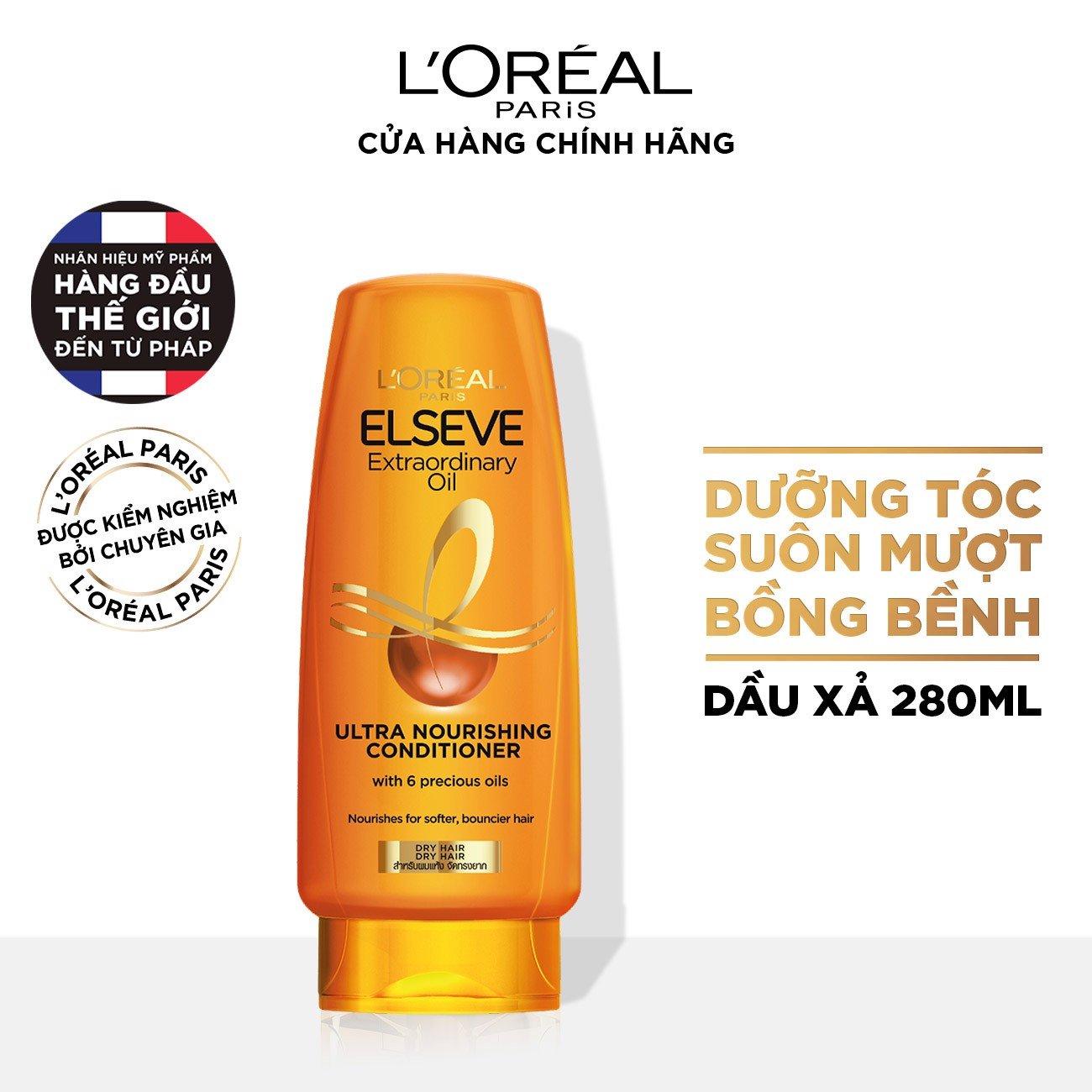 Dầu xả chiết xuất tinh dầu hoa tự nhiên L'Oréal Paris Elseve Extraordinary Oil 325ml