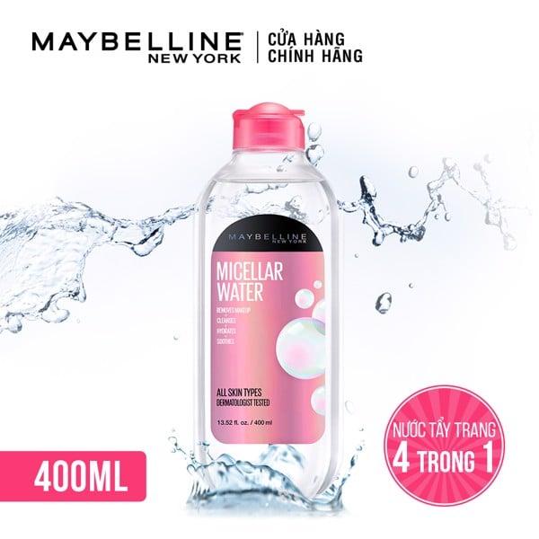 Nước Tẩy Trang Micellar Dưỡng Da Không Cồn 4 Trong 1 Maybelline New York Micellar Water 4-in-1