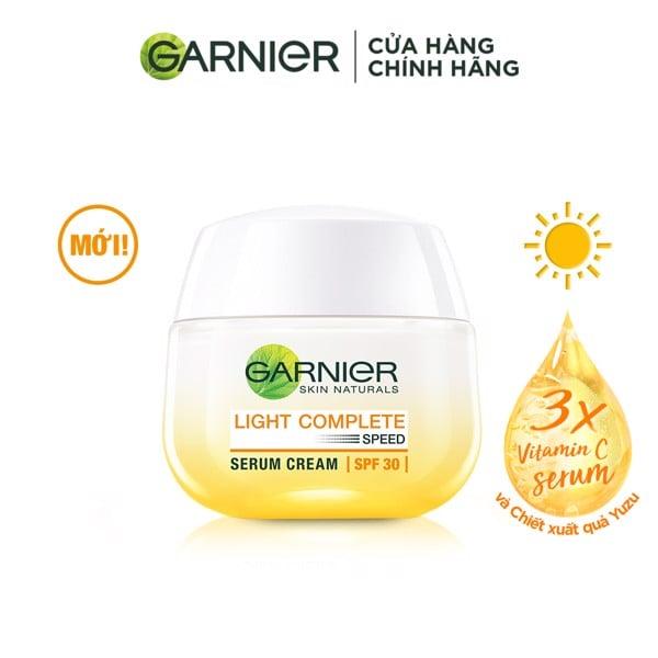 Kem dưỡng serum sáng da ban ngày Garnier Light Complete Vitamin C Serum Cream SPF30 50ml