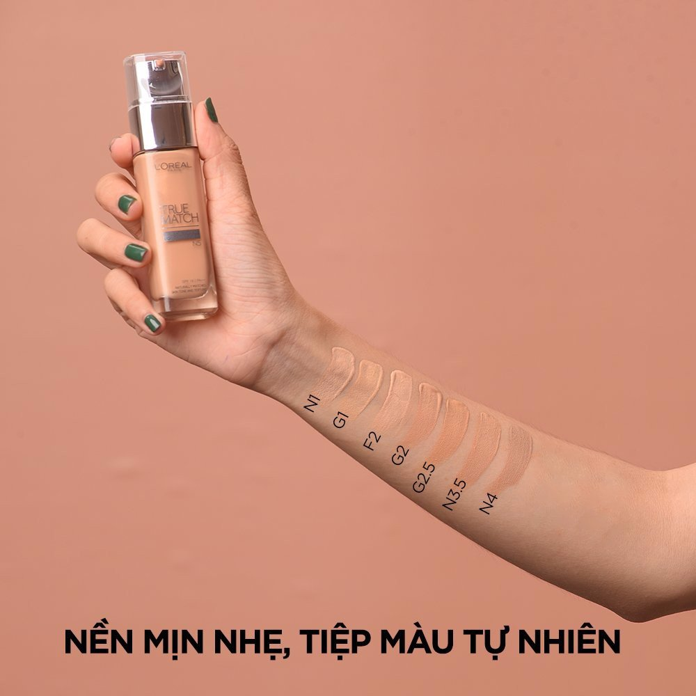 Kem nền mịn da dạng lỏng L'Oréal Paris True Match Liquid Foundation 30ml