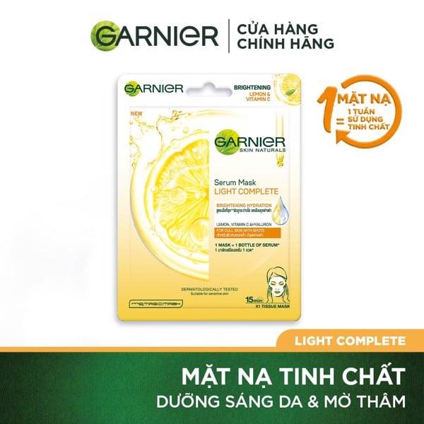 Mặt nạ tinh chất Quả Yuzu & Vitamin C sáng da tức thì Garnier Light Complete Serum Mask 28g