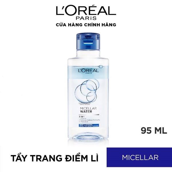 Nước Tẩy Trang Tươi Mát L'Oreal Paris 3-in-1 Micellar Water Sạch Sâu 95ml