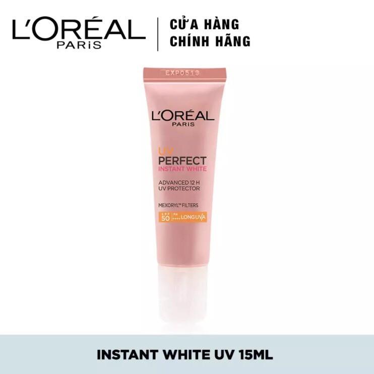 Kem chống nắng L'Oreal Paris UV Perfect trắng sáng tức thì 15ml