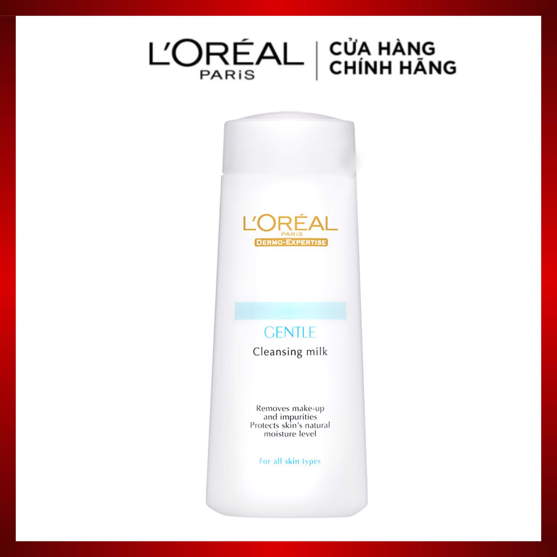 Sữa tẩy trang L'Oreal Paris Dermo Expertise Gentle Cleansing Milk 200ml