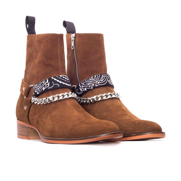 THE BRAVE WOLF HARNESS BOOT – TOBACCO