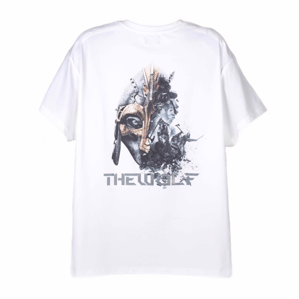 THE RISING TEE WOLF WARRIOR – WHITE