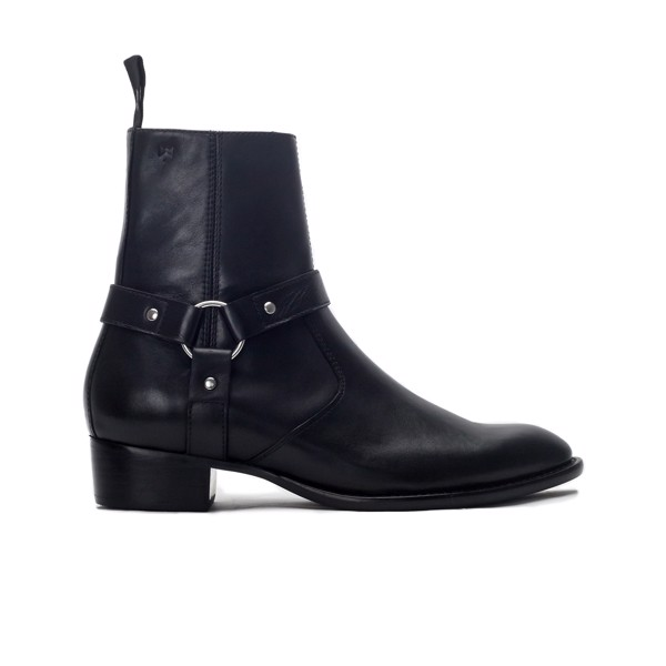 THE 4CM HEEL HARNESS BOOT - BLACK