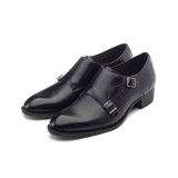 THE 4CM HEEL MONKSTRAP – BLACK LIZARD