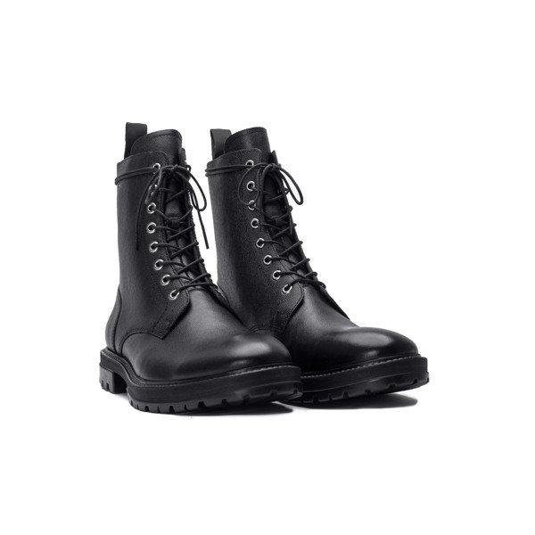 THE COMBAT BOOT - BLACK GRAIN