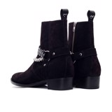 THE BRAVE WOLF HARNESS BOOT – BLACK SUEDE
