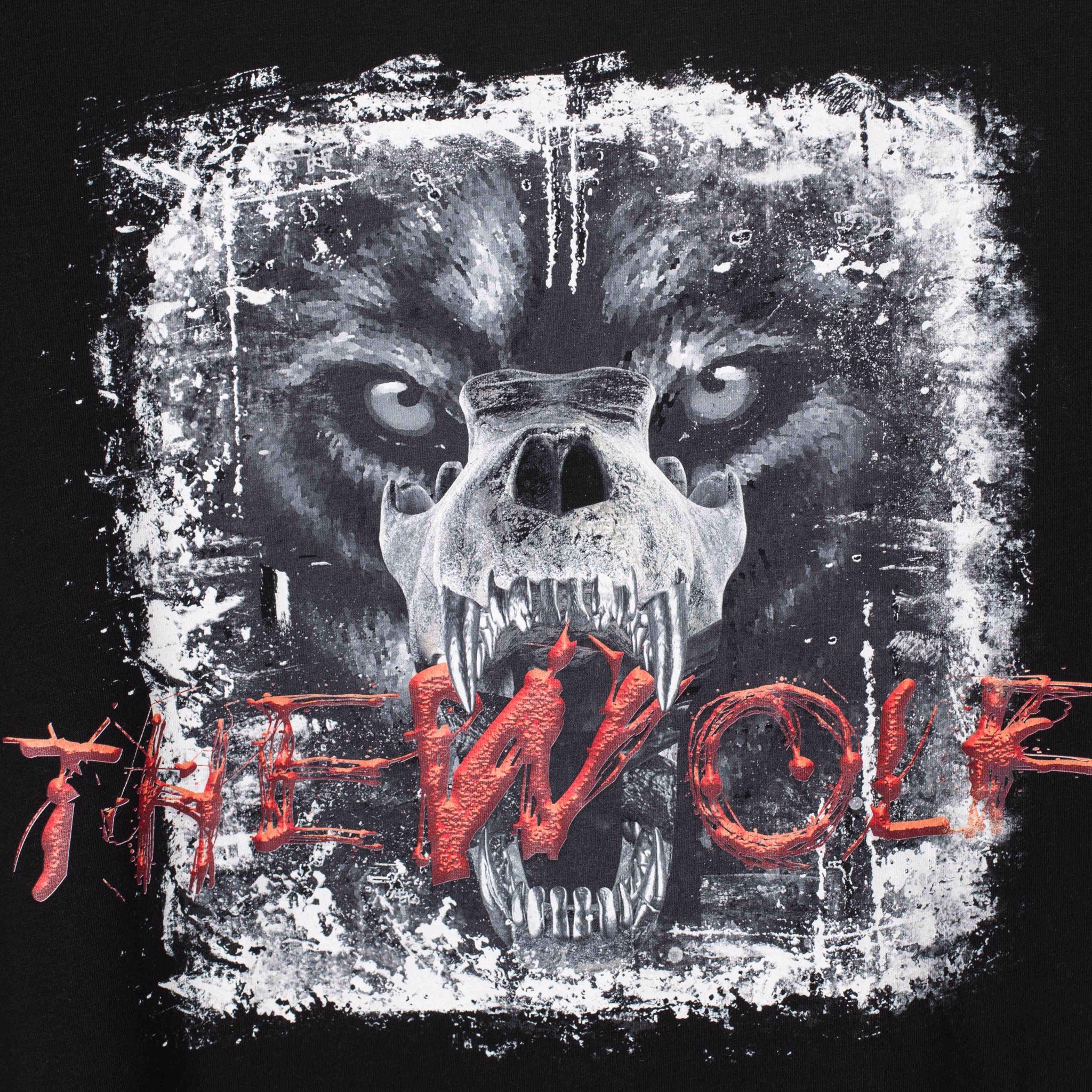 THE RISING TEE WOLF BONE – BLACK
