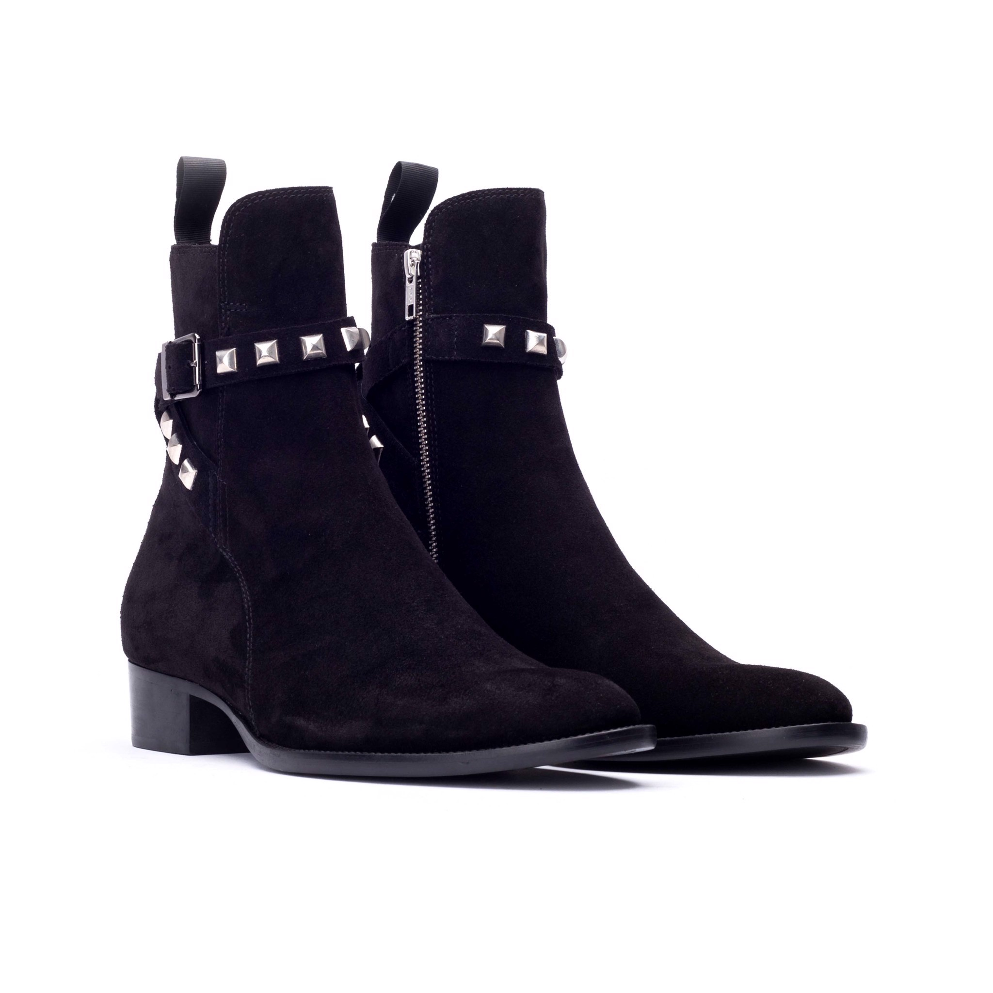 THE BRAVE WOLF ANKLE BOOT – BLACK SUEDE