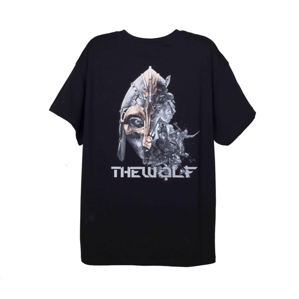 THE RISING TEE WOLF WARRIOR – BLACK