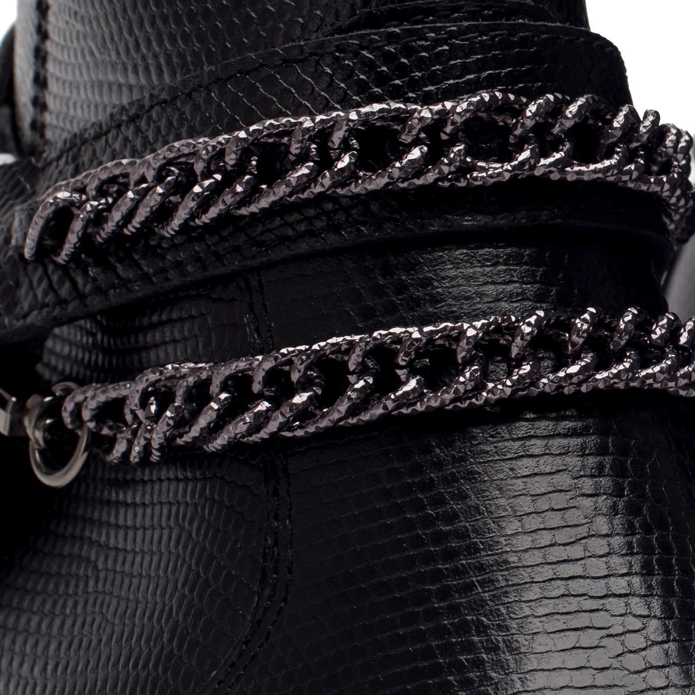 THE WILD WALK HARNESS – BLACK LIZARD (CHAIN)