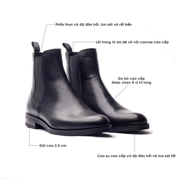 THE SHEWOLF CLASSIC CHELSEA BOOT - BLACK