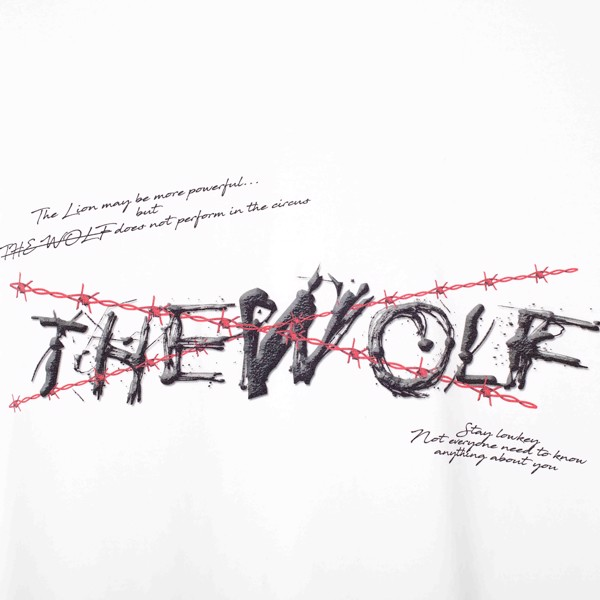 THE RISING TEE WOLF BLOOD CHAIN – WHITE