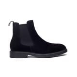 THE SHEWOLF MODERN CHELSEA BOOT - SUEDE BLACK