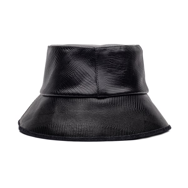 THEWOLF BUCKET HAT - BLACK LIZARD